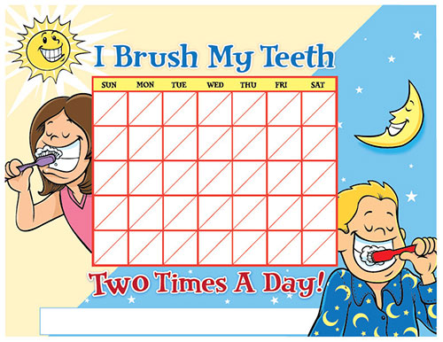 Color Brushing Chart for Children - Pediatric Dentist in Ardmore, PA