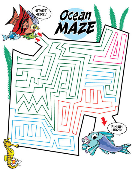 Ocean Maze Activity Sheet - Pediatric Dentist in Ardmore, PA